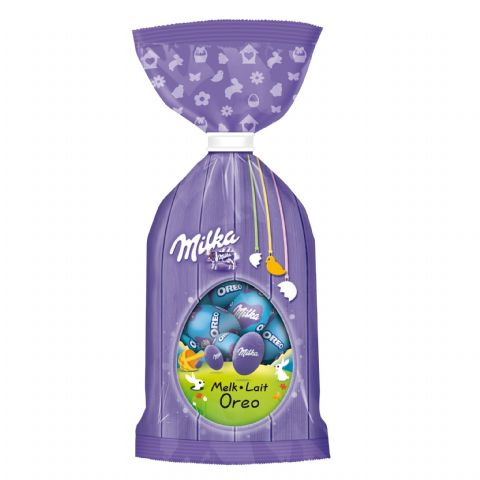 Oreo Milk Melk Lait Chocolate Mini Easter Eggs - Milka Bag 100g